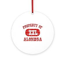 Property Of Alondra Ornament (Round)