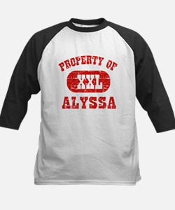 Property Of Alyssa Kids Baseball Jersey