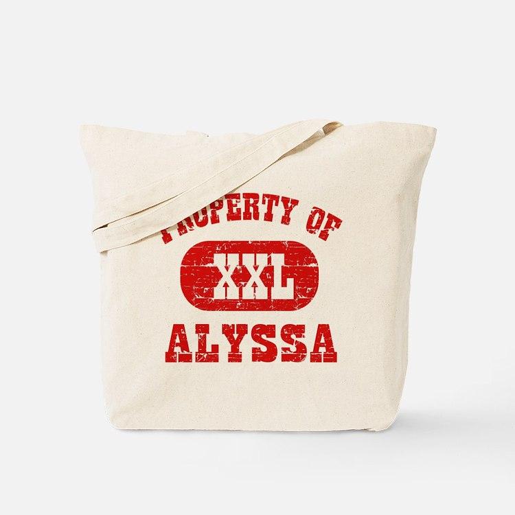 Property Of Alyssa Tote Bag
