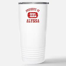 Property Of Alyssa Stainless Steel Travel Mug