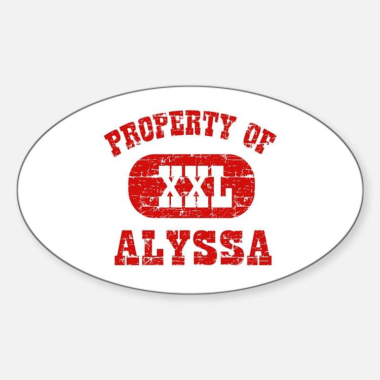 Property Of Alyssa Decal