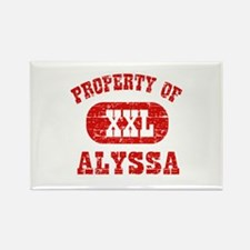 Property Of Alyssa Rectangle Magnet