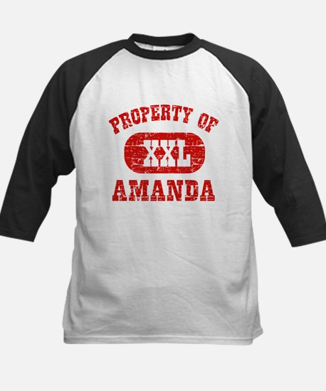 Property Of Amanda Kids Baseball Jersey