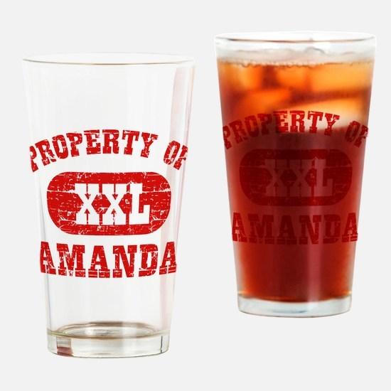 Property Of Amanda Drinking Glass