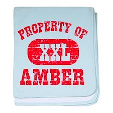 Property Of Amber baby blanket