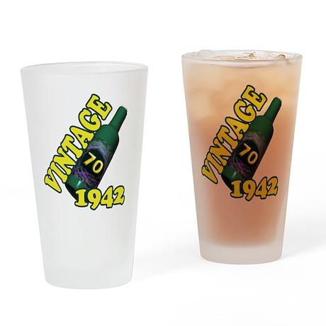 70th Birthday, 1942 Drinking Glass