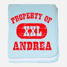 Property Of Andrea baby blanket