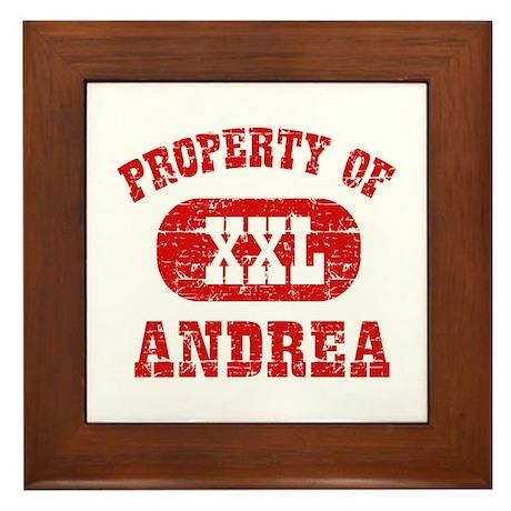 Property Of Andrea Framed Tile