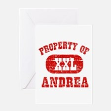 Property Of Andrea Greeting Card