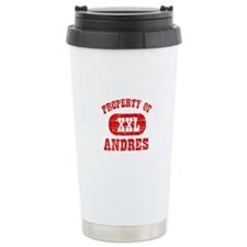 Property Of Andres Travel Coffee Mug