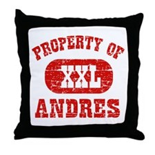 Property Of Andres Throw Pillow