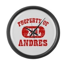 Property Of Andres Large Wall Clock