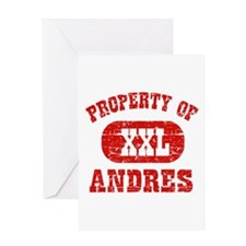 Property Of Andres Greeting Card