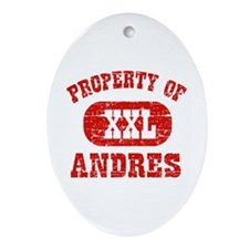 Property Of Andres Ornament (Oval)