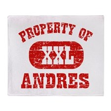 Property Of Andres Throw Blanket