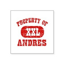 """Property Of Andres Square Sticker 3"""" x 3"""""""