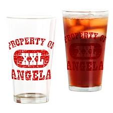 Property Of Angela Drinking Glass