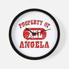 Property Of Angela Wall Clock