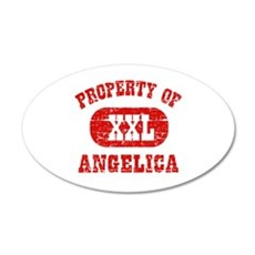 Property Of Angelica 20x12 Oval Wall Decal