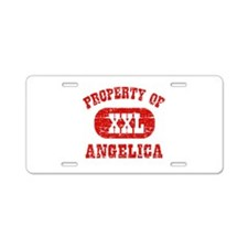 Property Of Angelica Aluminum License Plate