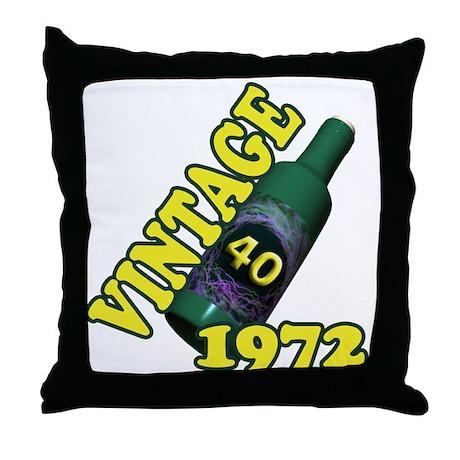 40th Birthday, 1972 Throw Pillow