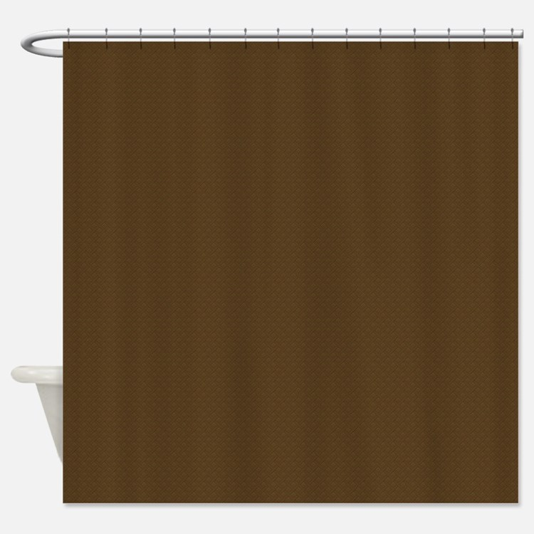 Brown Trellis Look Shower Curtain