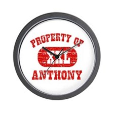 Property Of Anthony Wall Clock