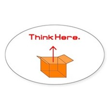 Think Here Oval Decal