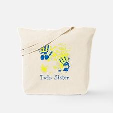 Twin Sister. Splat Design. Tote Bag