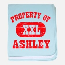 Property Of Ashley baby blanket