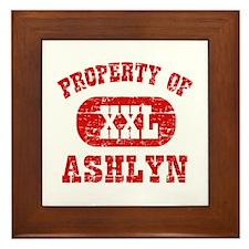 Property Of Ashlyn Framed Tile