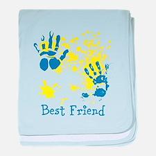 Best Friend. Splat Design. baby blanket
