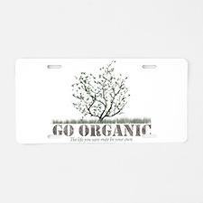 Go Organic Aluminum License Plate