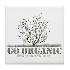Go Organic Tile Coaster