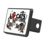 """Rectangular Hitch Cover """"I love Cats"""""""