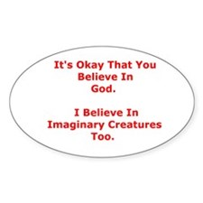 Imaginary Creatures Oval Decal