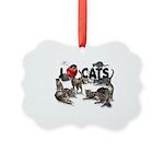 """Picture Ornament """"I love Cats"""""""