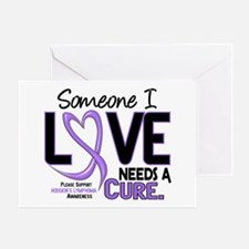 Needs a Cure 2 H Lymphoma Greeting Card