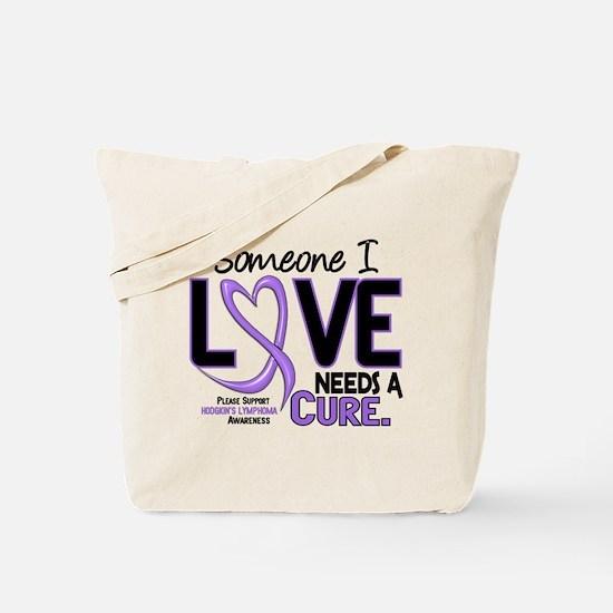 Needs a Cure 2 H Lymphoma Tote Bag