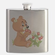 teddy bear eating strawberries.png Flask