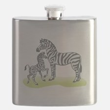 mommy and baby zebra.png Flask