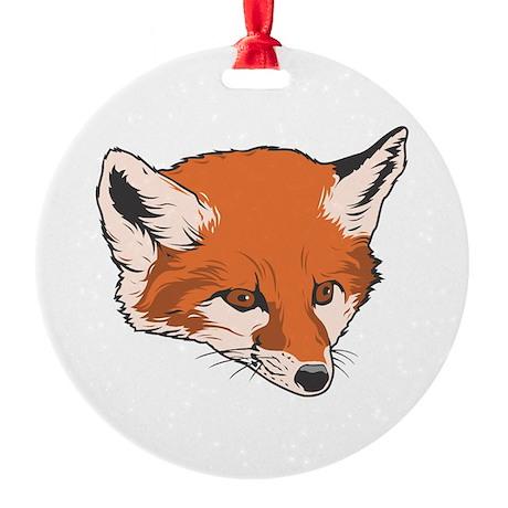 fox head copy.jpg Round Ornament