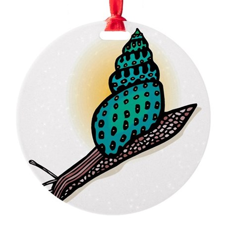 pretty snail.png Round Ornament