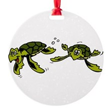 swimming sea turtles.png Ornament