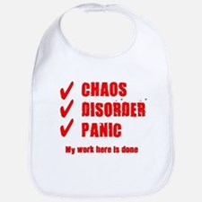 Chaos Disorder Panic Bib