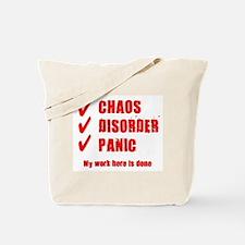 Chaos Disorder Panic Tote Bag