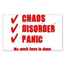 Chaos Disorder Panic Decal