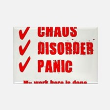 Chaos Disorder Panic Rectangle Magnet