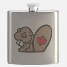 cute canadian beaver.png Flask