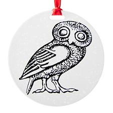 Athenas Owl Round Ornament